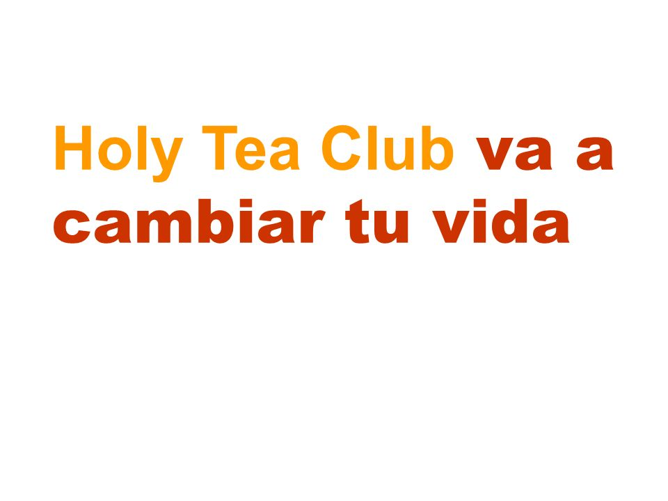 Holy Tea Club va a cambiar tu vida