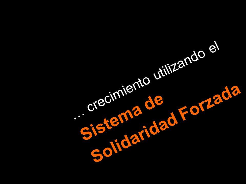 … crecimiento utilizando el Sistema de Solidaridad Forzada