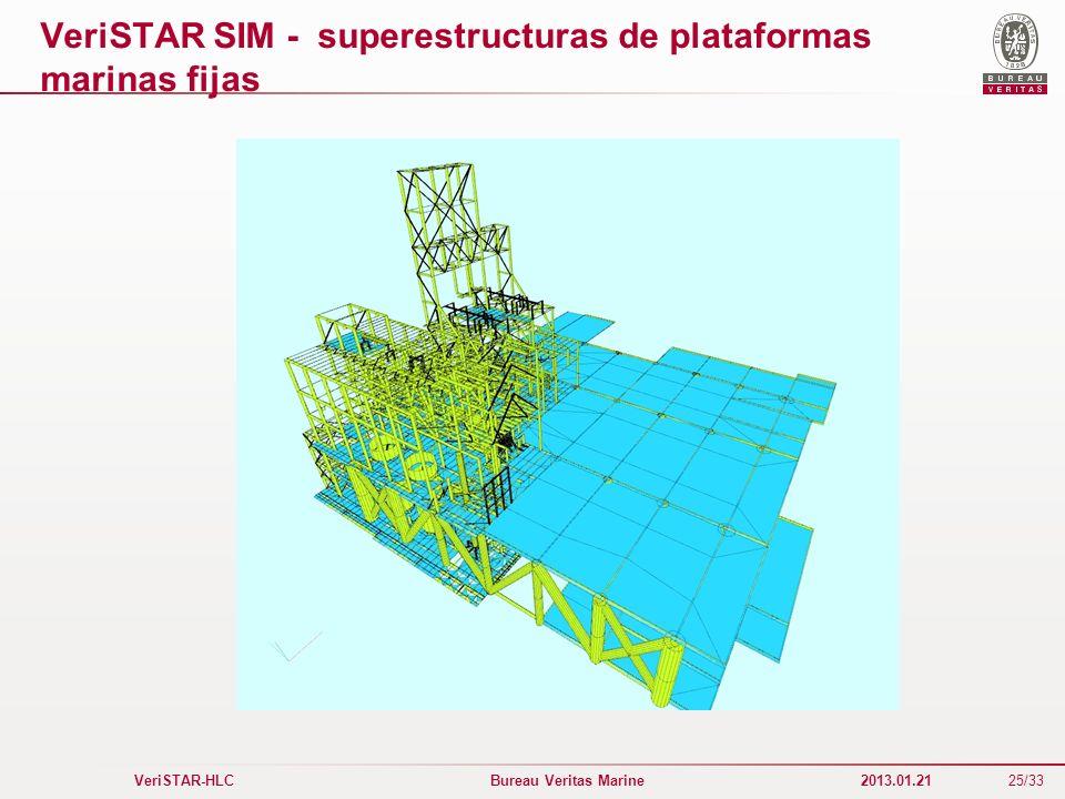 25/33 VeriSTAR-HLC Bureau Veritas Marine 2013.01.21 VeriSTAR SIM - superestructuras de plataformas marinas fijas