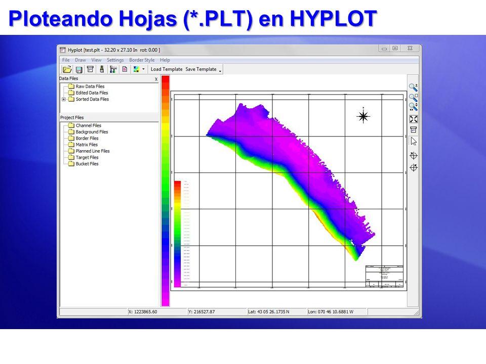 Ploteando Hojas (*.PLT) en HYPLOT
