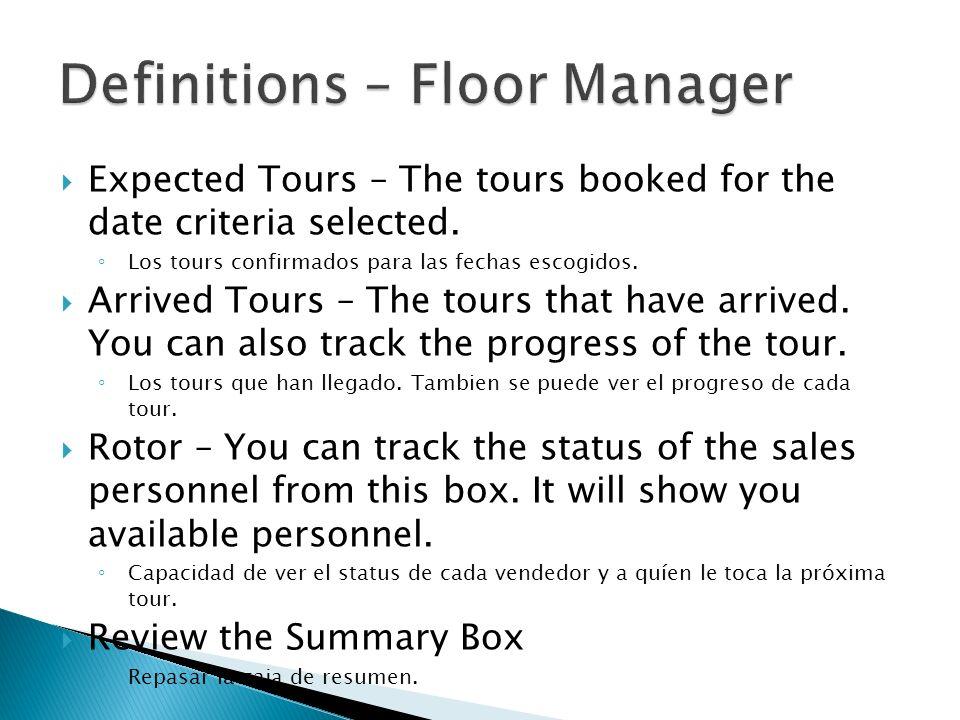 1)Hace click derecho en el registro del tour para hacer Check Out.