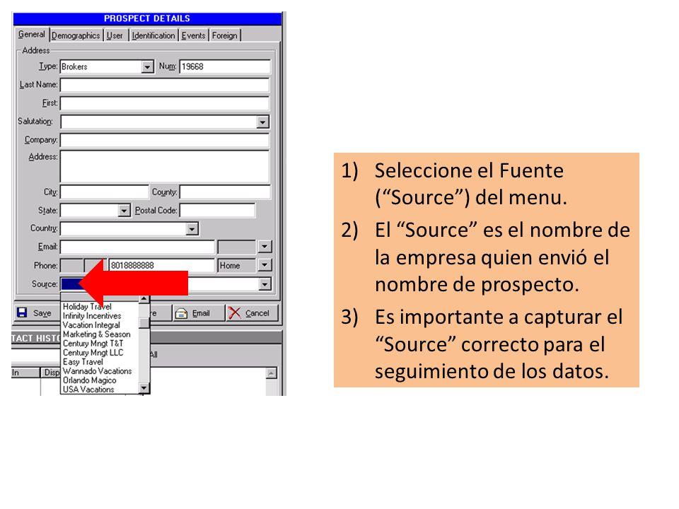 1)Seleccione el Fuente (Source) del menu.