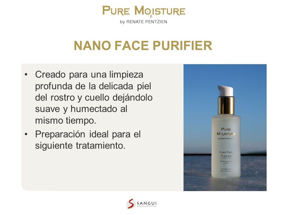 NANO TECHNOLOGY COSMETICS NANO FACE PURIFIER Creado para una limpieza profunda de la delicada piel del rostro y cuello dejándolo suave y humectado al