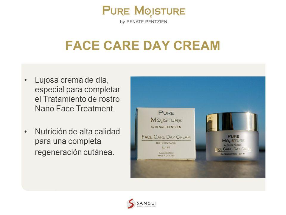 NANO TECHNOLOGY COSMETICS FACE CARE DAY CREAM Lujosa crema de día, especial para completar el Tratamiento de rostro Nano Face Treatment. Nutrición de