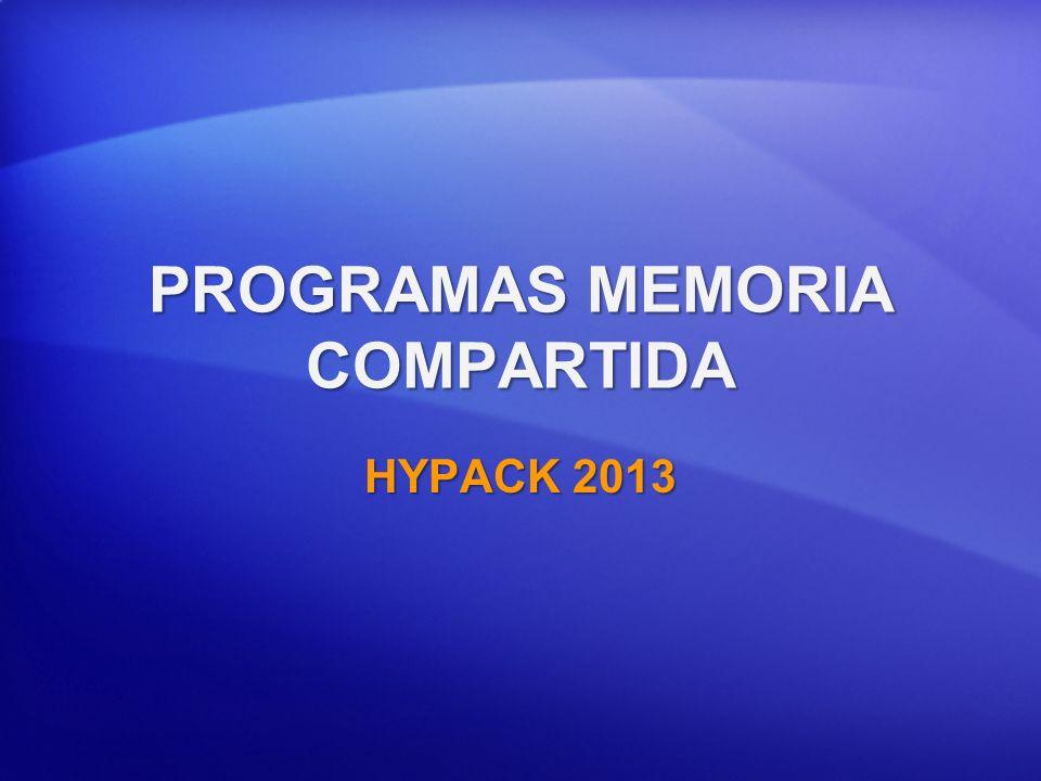 Bases Memoria Compartida HYPACK SURVEY y DREDGEPACK® crean un Área de Memoria Compartida (SMA).HYPACK SURVEY y DREDGEPACK® crean un Área de Memoria Compartida (SMA).