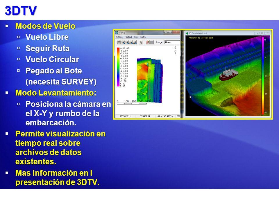 MATRIZ 3DTV Carga el archivo MTX file desde DREDGEPACK® como la superficie del terreno.Carga el archivo MTX file desde DREDGEPACK® como la superficie del terreno.