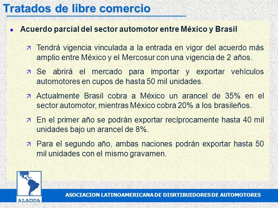 ASOCIACION MEXICANA DE DISTRIBUIDORES DE AUTOMOTORES, A.C. Tratados de libre comercio l Tratado de Libre Comercio con la Unión Europea ä La entrada en