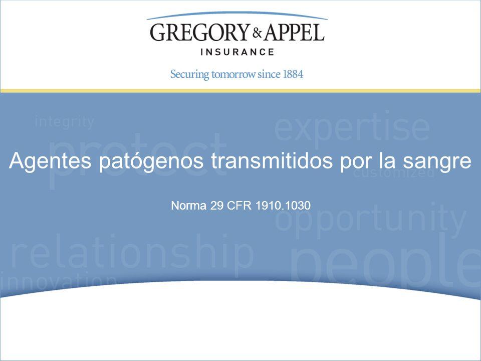 Norma 29 CFR 1910.1030 Agentes patógenos transmitidos por la sangre