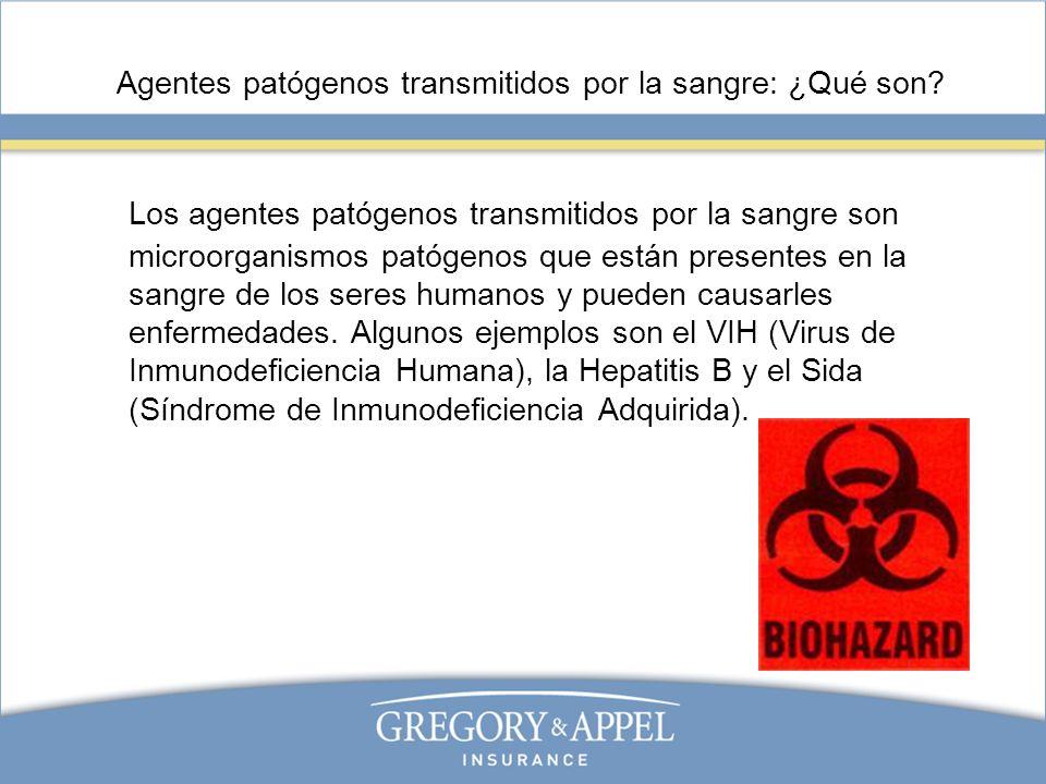 Agentes patógenos transmitidos por la sangre: ¿Qué son? Los agentes patógenos transmitidos por la sangre son microorganismos patógenos que están prese