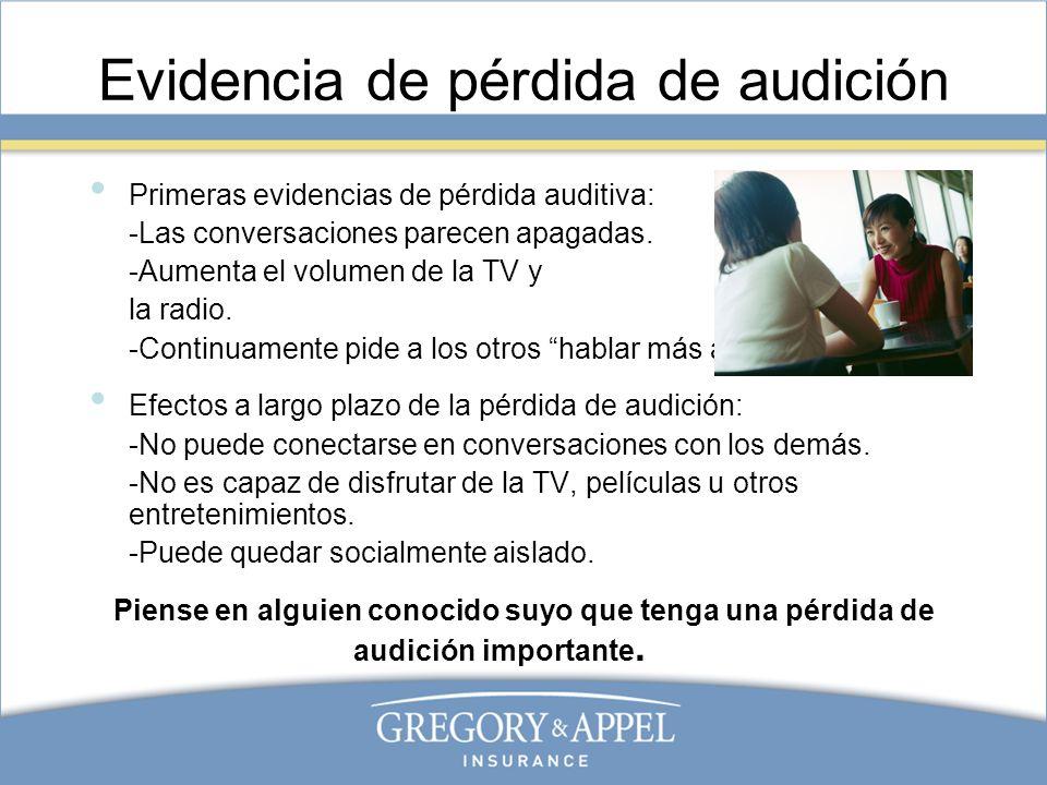 Prevención de la pérdida de audición La única forma de prevenir la pérdida de la audición inducida por el ruido es usando protección auditiva en áreas con exposición al ruido a o con una frecuencia mayor a 85 dB.