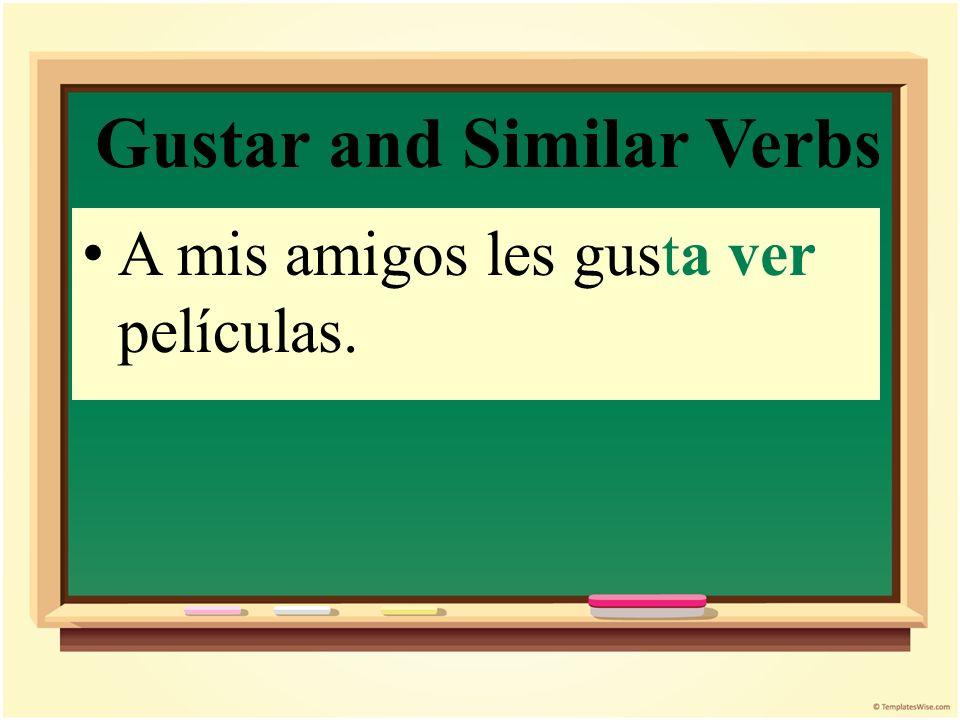Gustar and Similar Verbs Me gusta el actor en la telenovela pero no me gustan las actrices.