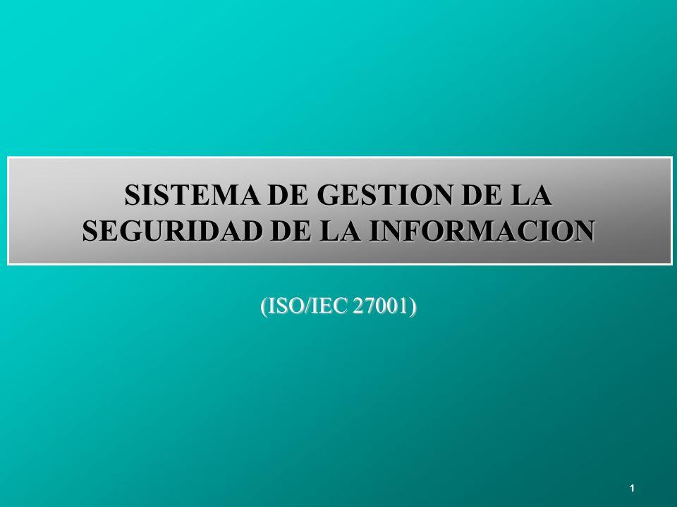 1 SISTEMA DE GESTION DE LA SEGURIDAD DE LA INFORMACION (ISO/IEC 27001)
