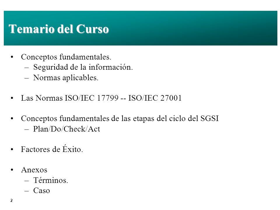 23 Relación entre Normas BS 7799 - 1 BS 7799 - 2 ISO/IEC 17799UNIT/ISO/IEC 17799 UNIT 17799:2 (2005) BSI ISO/IECUNIT (Ej.