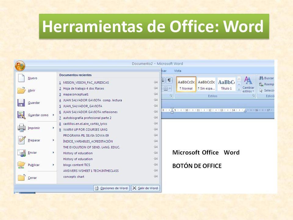 Herramientas de Office: Word