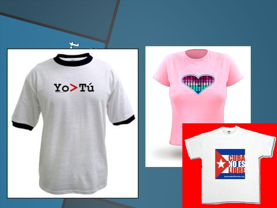 el T shirt la camiseta