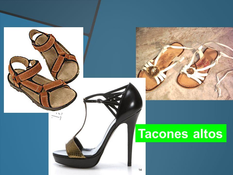 las sandalias Tacones altos