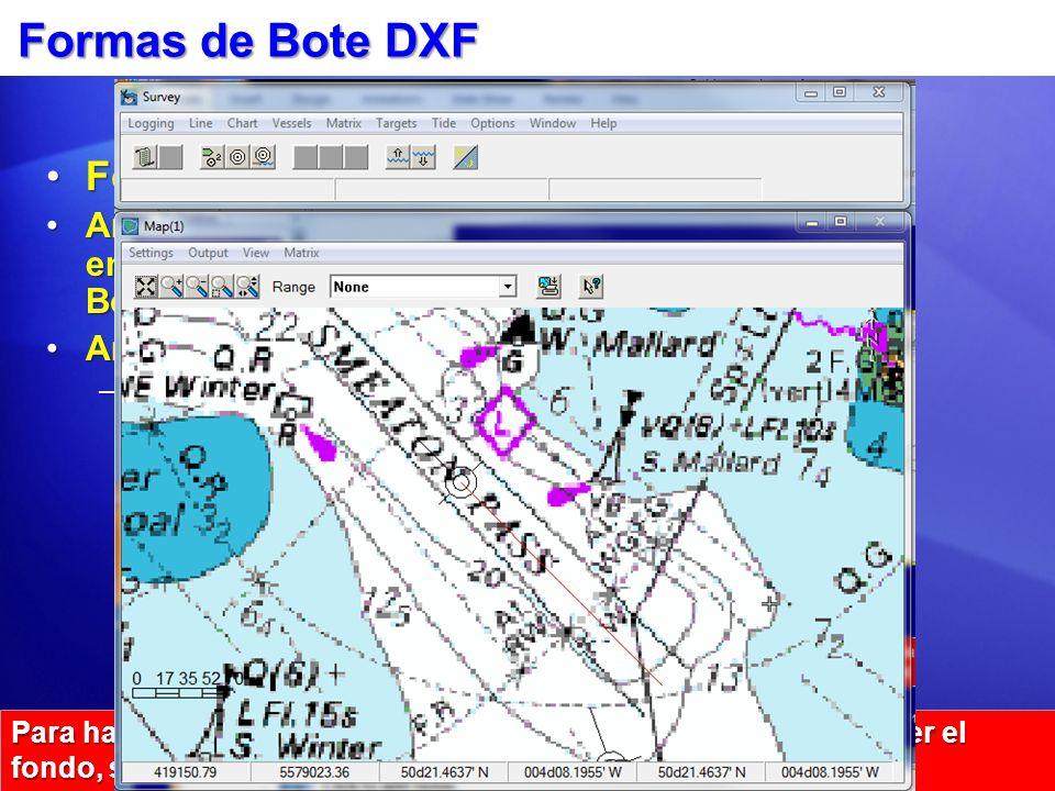 Formas de Bote DXF Formas:Formas: Archivos SHP hechos en el Editor Formas Bote.Archivos SHP hechos en el Editor Formas Bote. Archivos DXF:Archivos DXF
