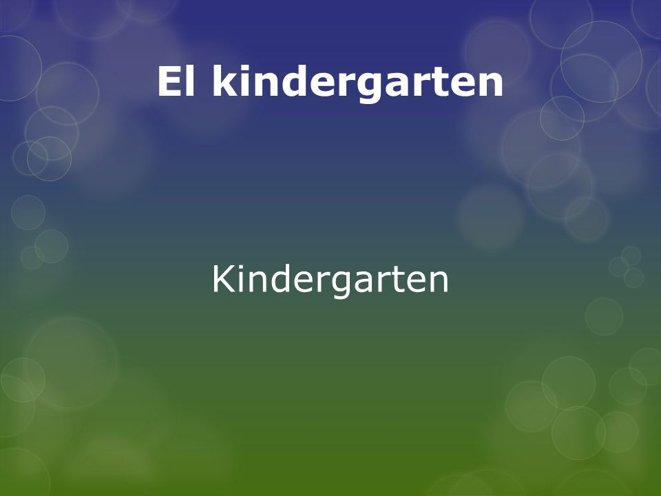 El kindergarten Kindergarten