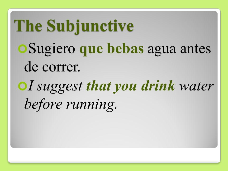 The Subjunctive El entrenador exige que los atletas levanten las pesas.