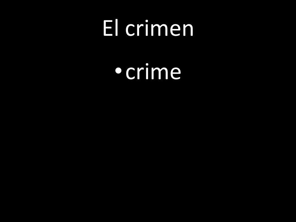 El crimen crime