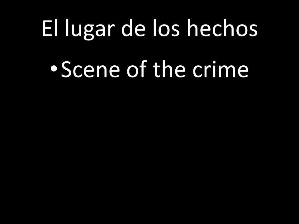 El lugar de los hechos Scene of the crime