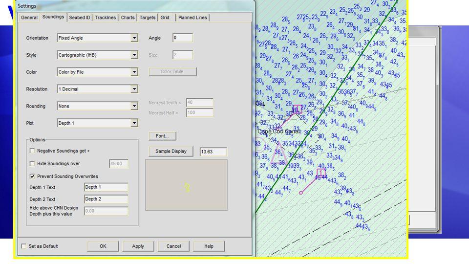 Ventana Configuracion Controla la presentación de: Controla la presentación de: SondajesSondajes TraqueosTraqueos CartasCartas BlancosBlancos Grilla L