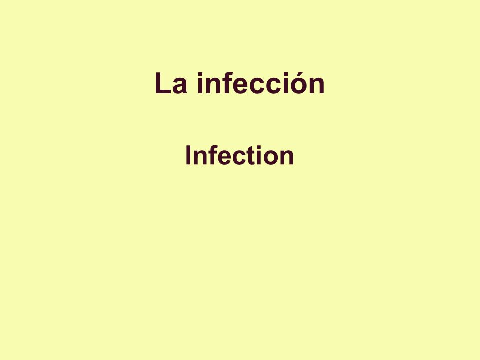 La infección Infection
