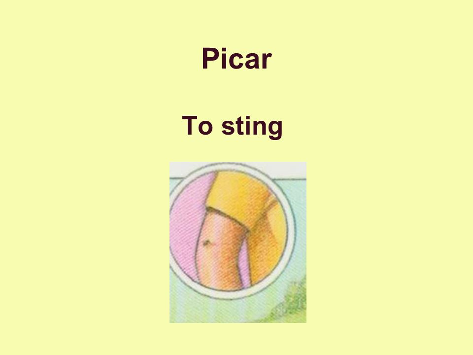 Picar To sting