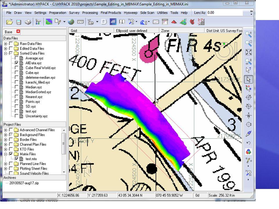 Archivo MTX: Llenado en TIN MODEL Cree un modelo de superficie en TIN MODEL. Exporte un archivo MTX lleno. TIN MODEL efectúa un relleno con base en lo