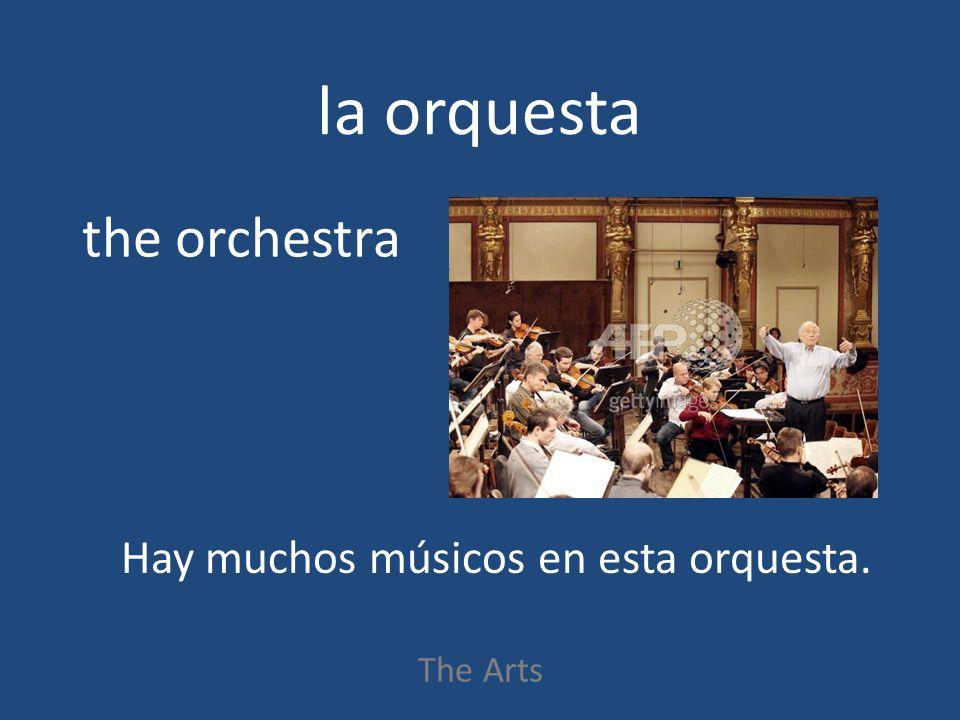 la orquesta The Arts the orchestra Hay muchos músicos en esta orquesta.