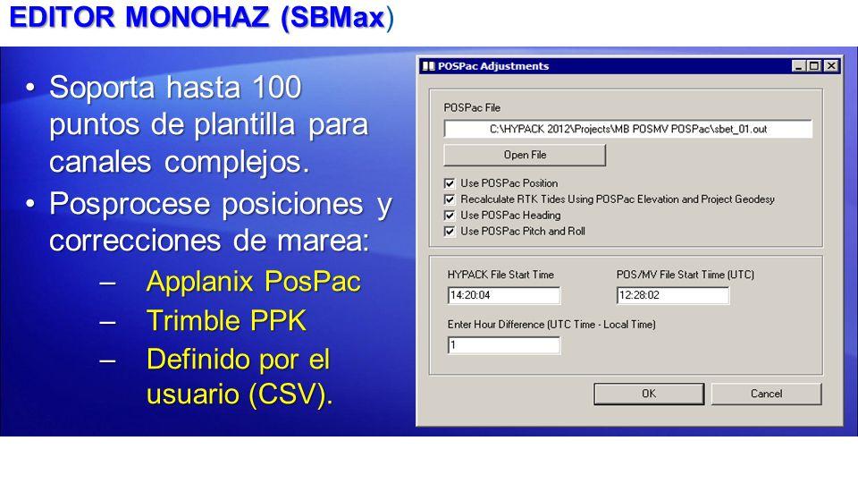 EDITOR MONOHAZ (SBMax EDITOR MONOHAZ (SBMax) Soporta hasta 100 puntos de plantilla para canales complejos.Soporta hasta 100 puntos de plantilla para c