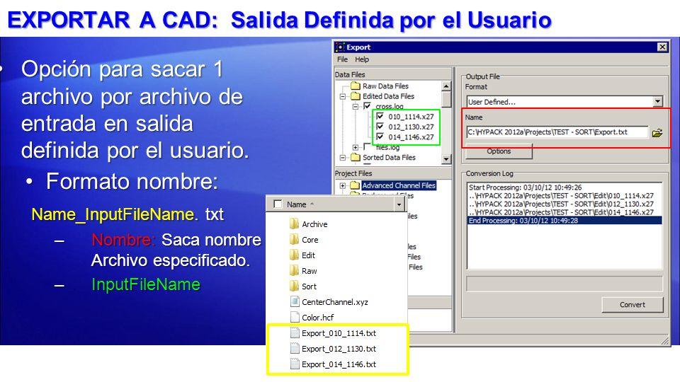 Opción para sacar 1 archivo por archivo de entrada en salida definida por el usuario.Opción para sacar 1 archivo por archivo de entrada en salida defi