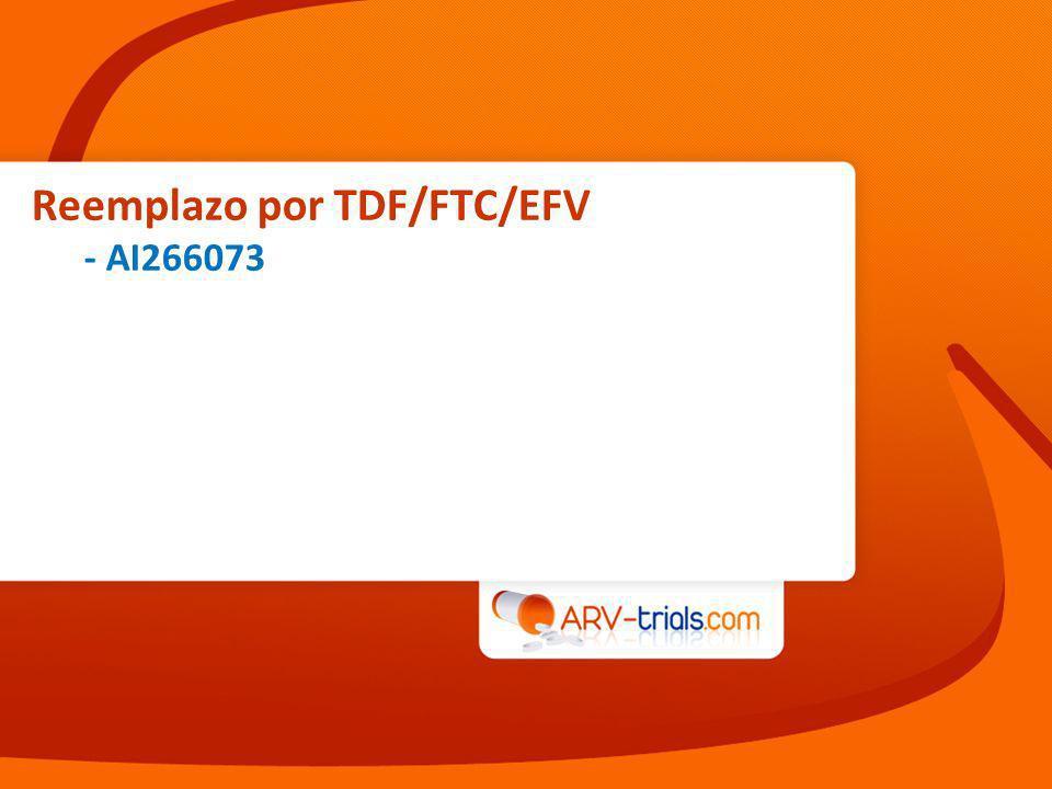 Reemplazo por TDF/FTC/EFV - AI266073