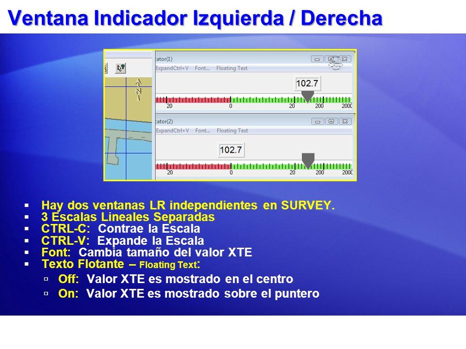 Ventana Presentación Datos Presentación Datos:Presentación Datos: Configure hasta 4 ventanas de DatosConfigure hasta 4 ventanas de Datos Por cada Ventana:Por cada Ventana: –Seleccione ítems a mostrar.