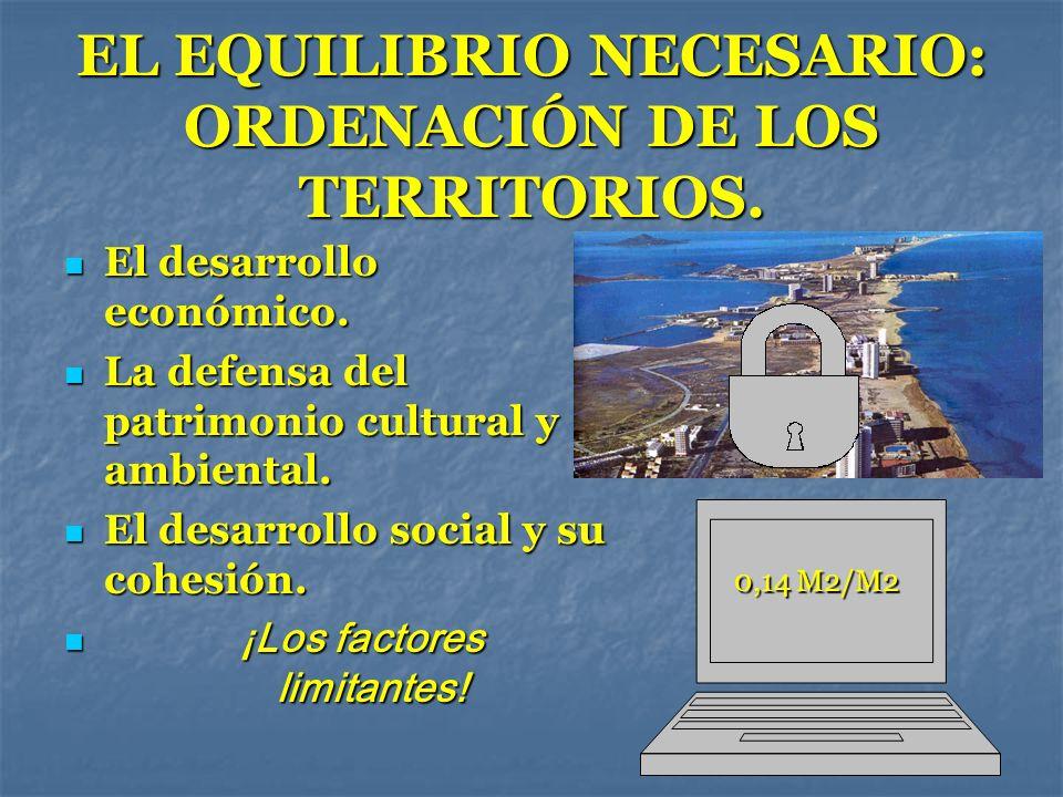EL EQUILIBRIO NECESARIO: ORDENACIÓN DE LOS TERRITORIOS. El desarrollo económico. El desarrollo económico. La defensa del patrimonio cultural y ambient