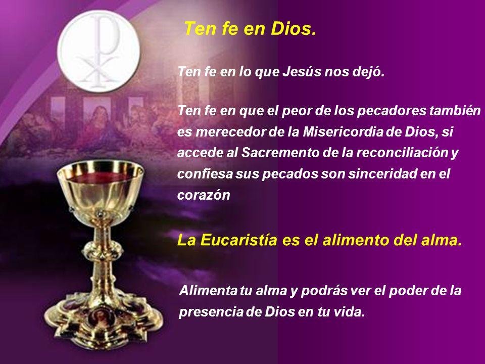 Felices aquellos que creen sin haber visto. (Juan 20,29) La Eucaristía es un regalo de Dios, traído hasta nosotros por Su Hijo Jesucristo. De tal modo