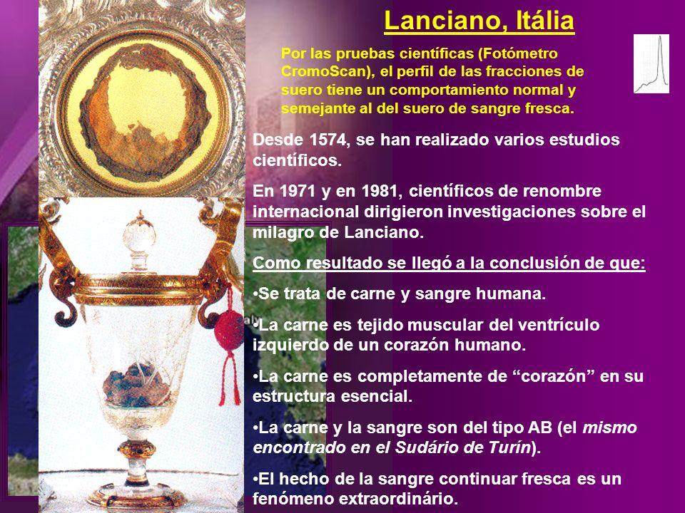 Lanciano, Italia Hace 700 años, otro padre ponía en duda que la eucaristía pudiese ser el cuerpo y la sangre de Cristo. En definitiva, todo lo que él