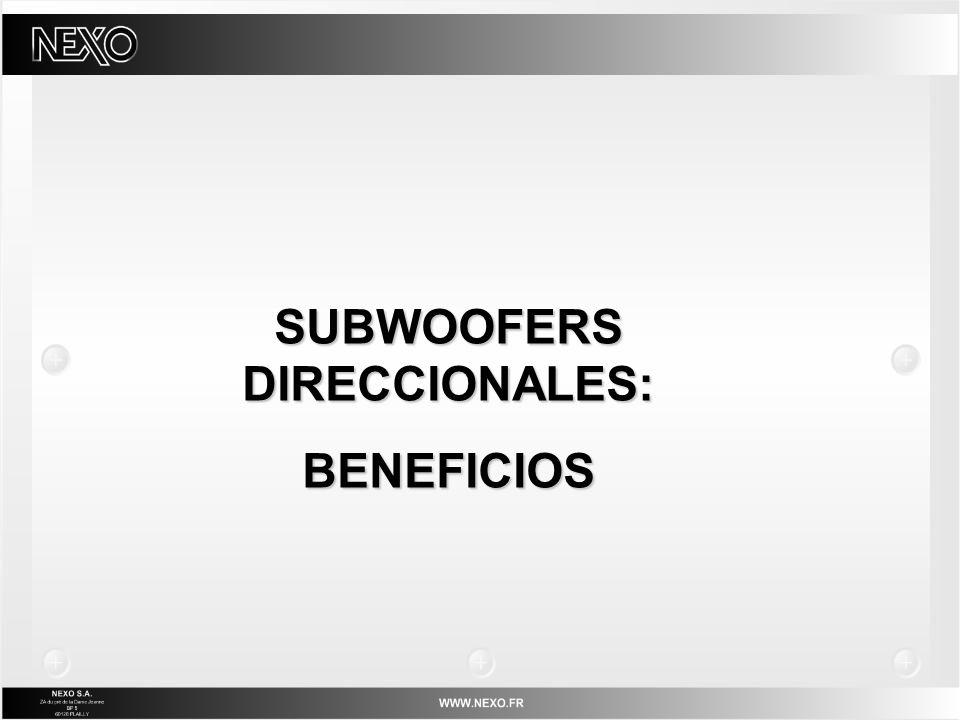SUBWOOFERS DIRECCIONALES: BENEFICIOS