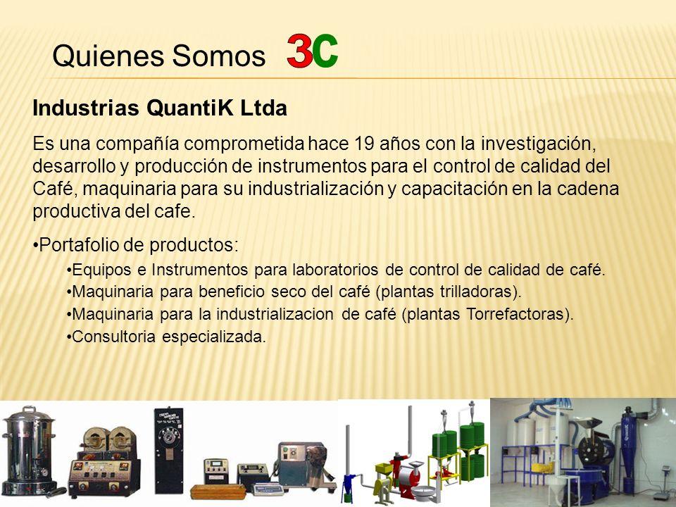 Quienes Somos Industrias QuantiK Ltda Otras Lineas de Negocios: Escuela Café.