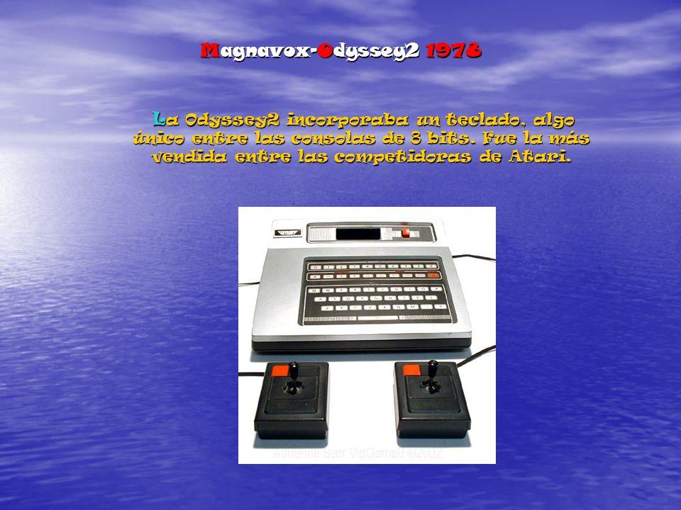 Magnavox-Odyssey2 1978 La Odyssey2 incorporaba un teclado, algo único entre las consolas de 8 bits.
