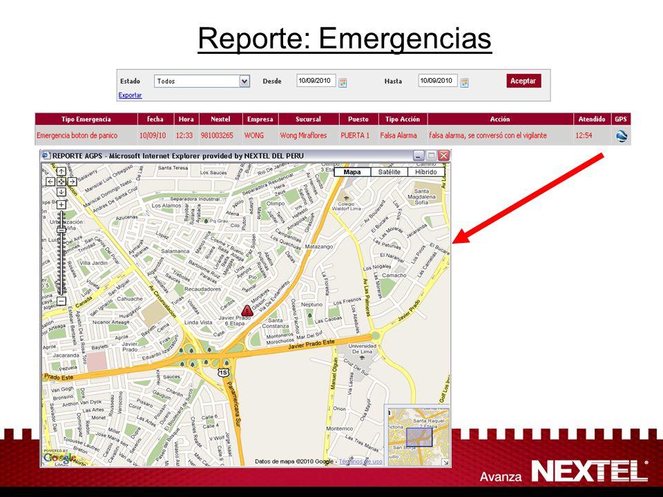 Reporte: Emergencias