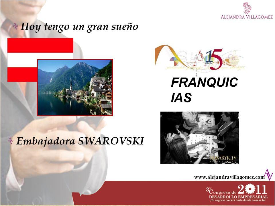 www.alejandravillagomez.com Hoy tengo un gran sueño Embajadora SWAROVSKI FRANQUIC IAS