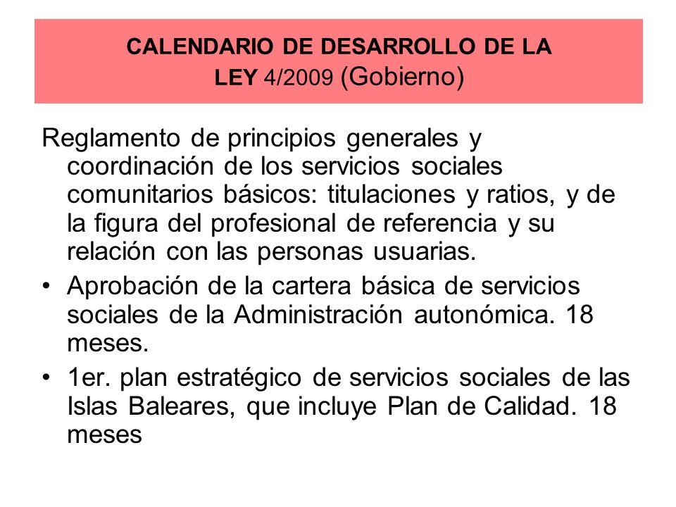 Reglamento de principios generales y coordinación de los servicios sociales comunitarios básicos: titulaciones y ratios, y de la figura del profesiona