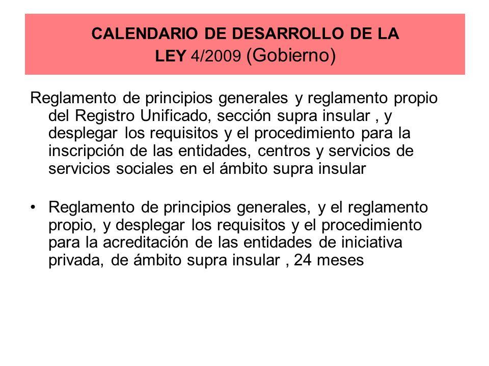 Reglamento de principios generales y reglamento propio del Registro Unificado, sección supra insular, y desplegar los requisitos y el procedimiento pa