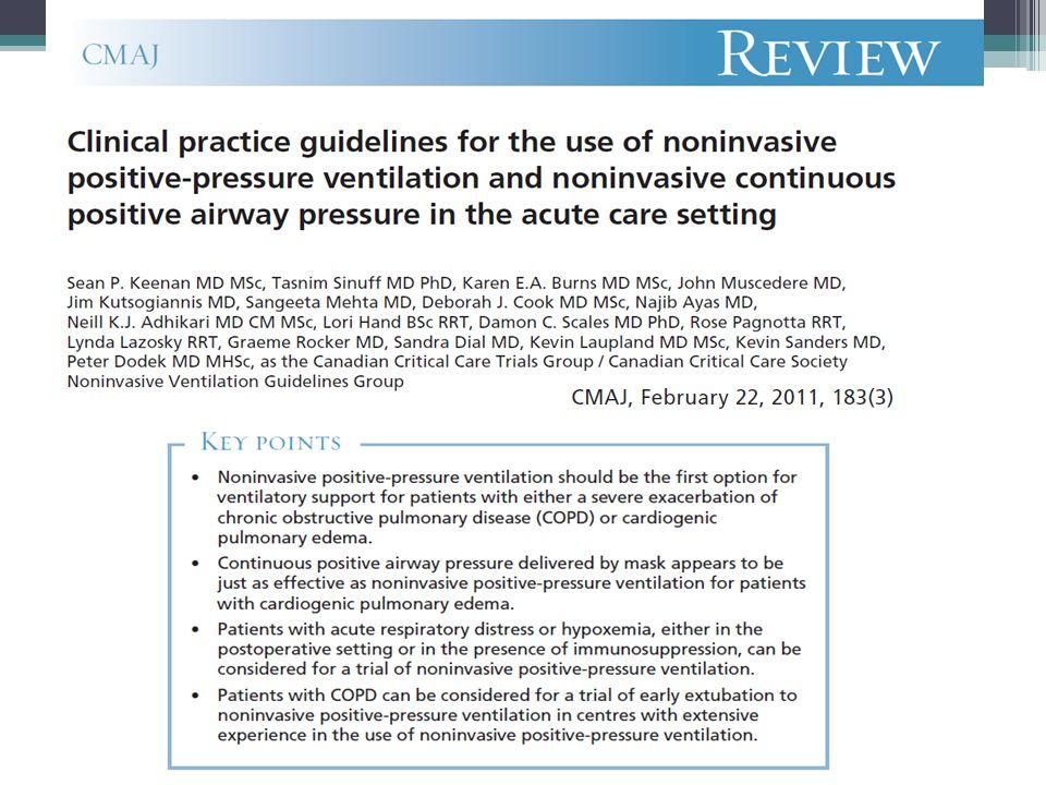 VNI en forma preventiva en pacientes de alto riesgo de falla post extubación
