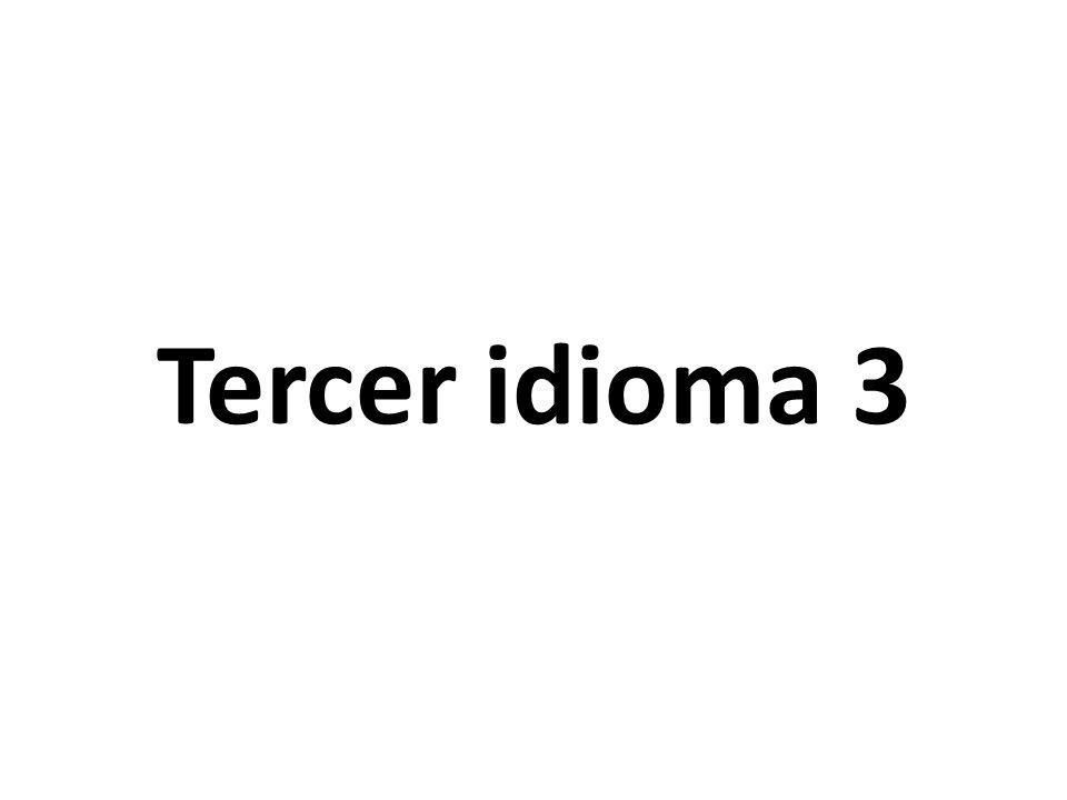 Tercer idioma 3