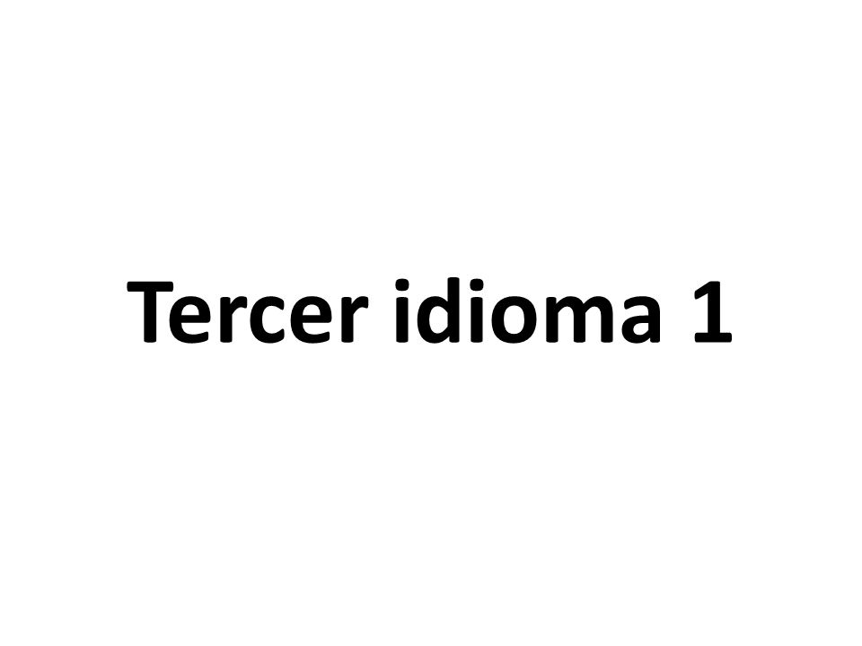 Tercer idioma 1