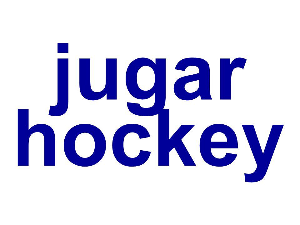 jugar hockey