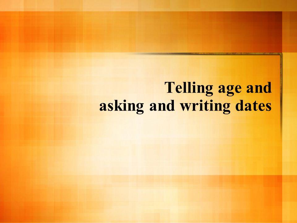 Tener años ¿Cuántos años tienes.– Tengo _____ años.