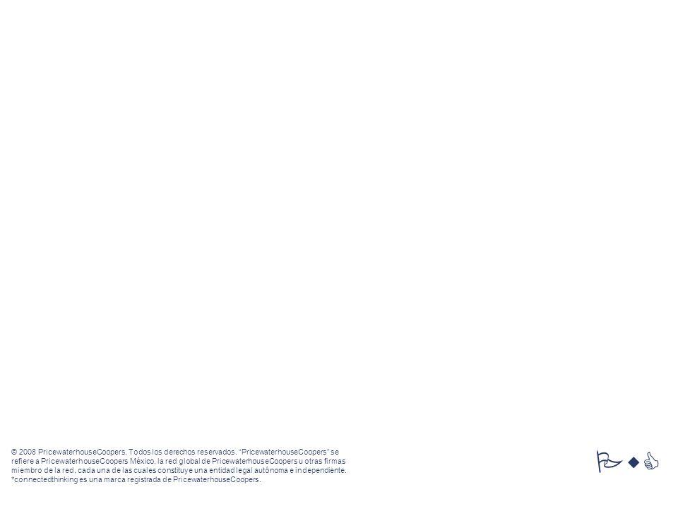 © 2008 PricewaterhouseCoopers. Todos los derechos reservados. PricewaterhouseCoopers se refiere a PricewaterhouseCoopers México, la red global de Pric